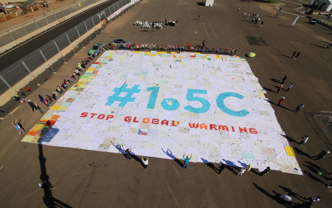 World's Largest Greeting Card Mosaic for 1.5°C