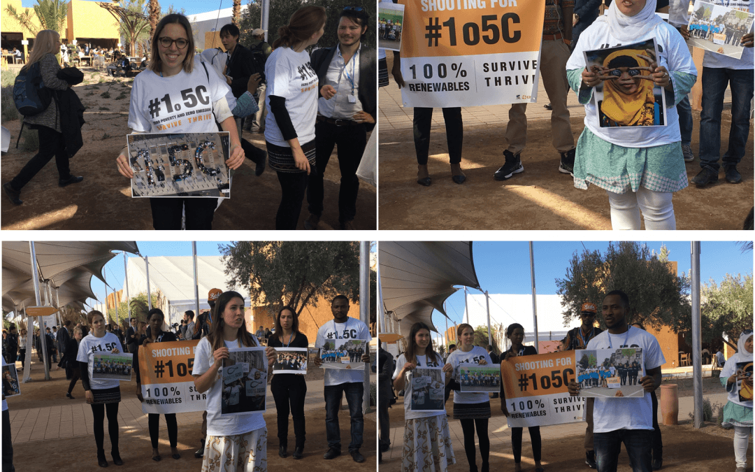 At COP22: Civil Society and Youth Groups Call for Urgent Climate Action on 1.5°C and 100% Renewable Energies