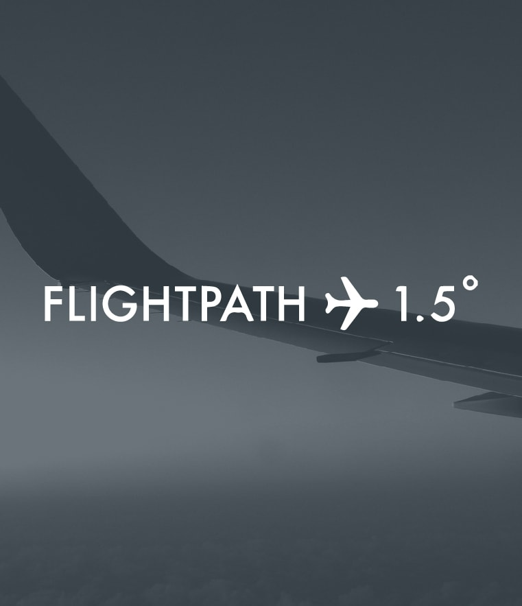 Image of airplane, for Flight Path 1.5 degre celsius
